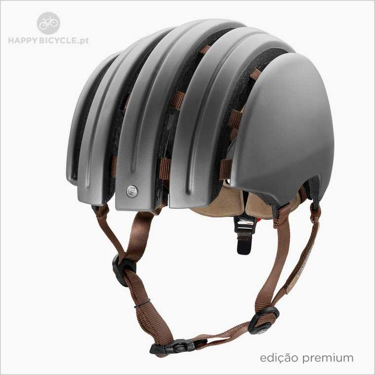 Carrera Casque de Vélo Pliable Crit Noir Plaine Toit Pliable