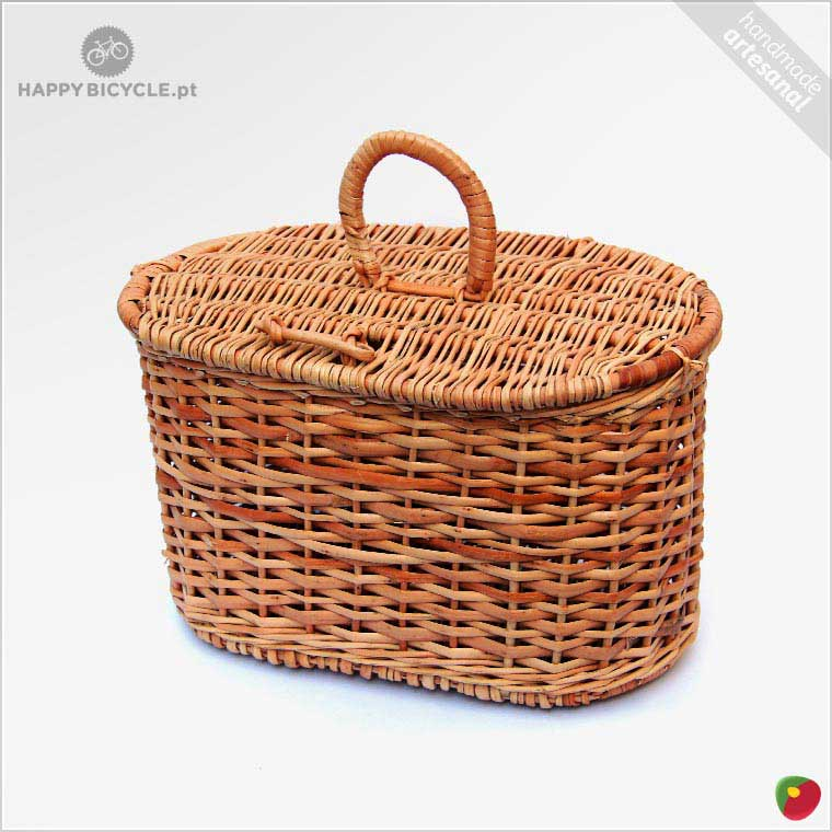 Traditional Small Wicker Basket With Liner&handle : Picnic wicker basket happy bicycle store
