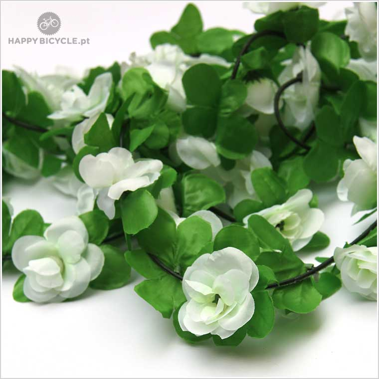 Flower Garland – white   Happy Bicycle Store