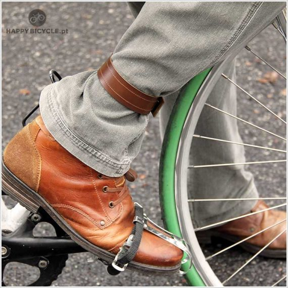 Bicycle Leather Strap for Trousers or Wheels