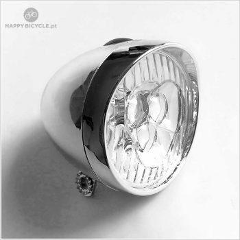 Farol Frontal Retro (a pilhas) - cromado 3