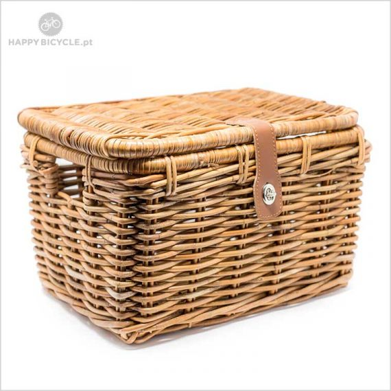 wicker basket with lid NIC