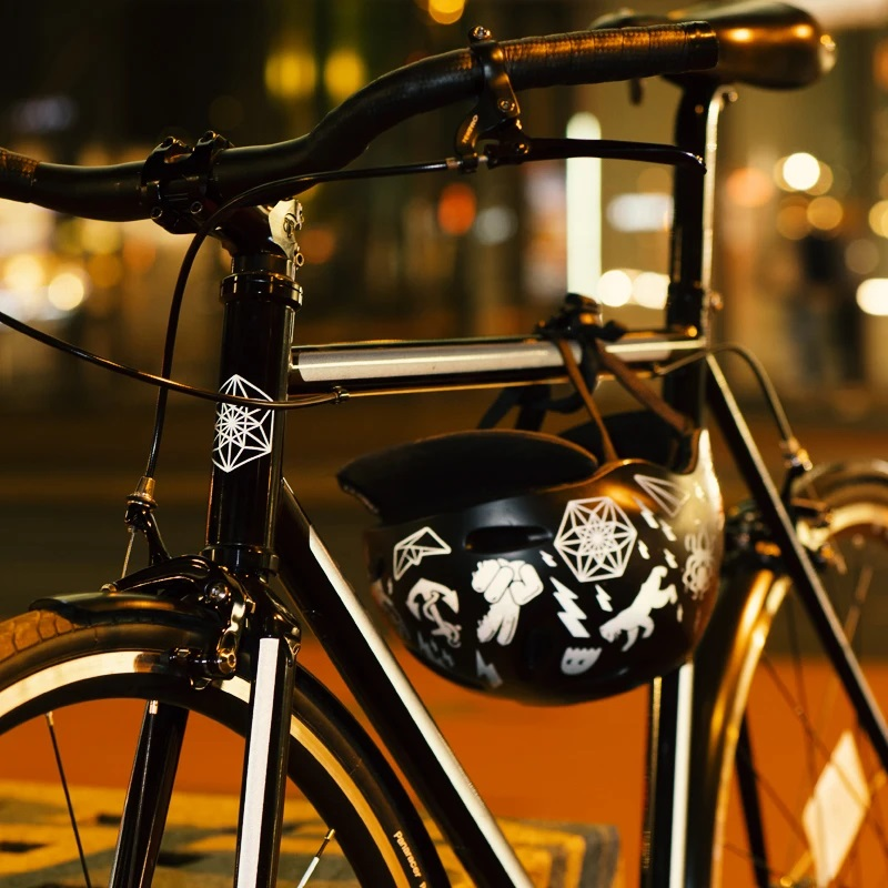 XEOGUIYA Reflective Sticker High Visiblity Stickers Ideal for Backpacks Bicycles