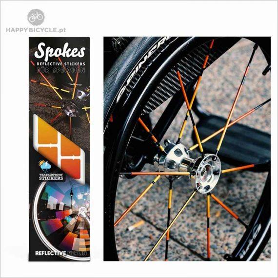 Autocollants Réfléchissants - RAYONS de roue de bicyclette