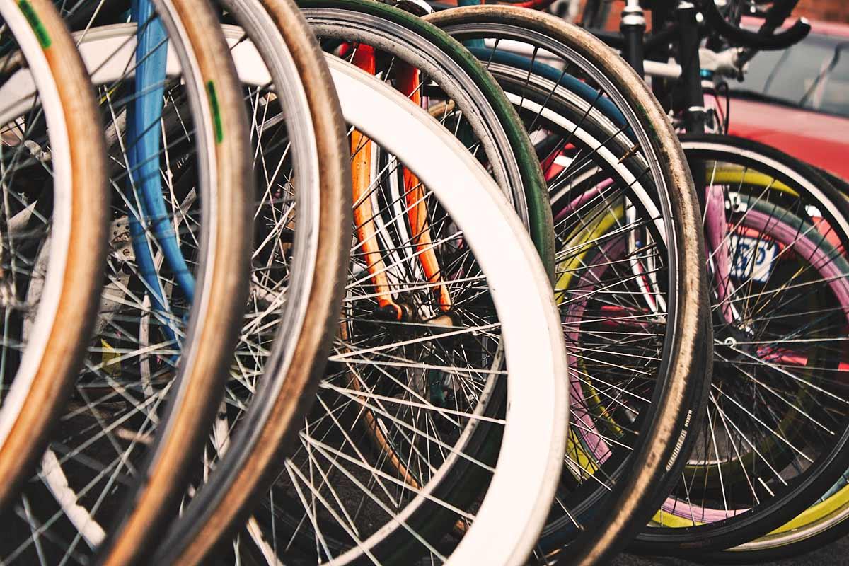medida de pneu de bicicleta